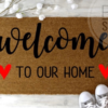 Welcome to our home (hearts)