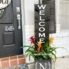 Welcome - with initial