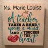 a teacher takes