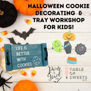 Tray and Halloween cookie making Workshop (1)