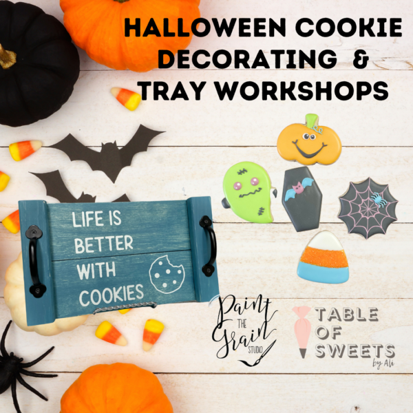 Tray and Halloween cookie making Workshop
